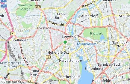 Stadtplan Hamburg-Nord OT Dulsberg