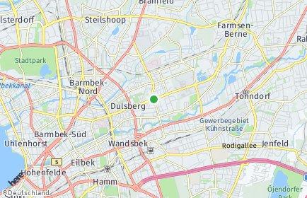 Stadtplan Hamburg-Wandsbek OT Marienthal