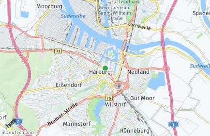 Stadtplan Hamburg-Harburg