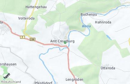 Stadtplan Amt Creuzburg OT Mihla