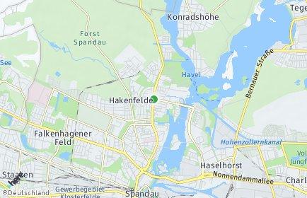 Stadtplan Berlin-Hakenfelde