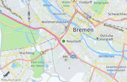 Stadtplan Bremen-Neustadt OT Südervorstadt
