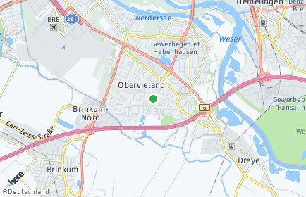Stadtplan Bremen-Obervieland
