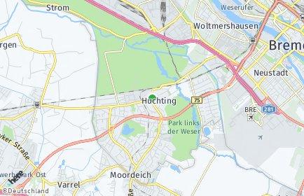 Stadtplan Bremen-Huchting