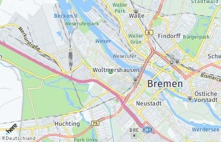Stadtplan Bremen-Woltmershausen