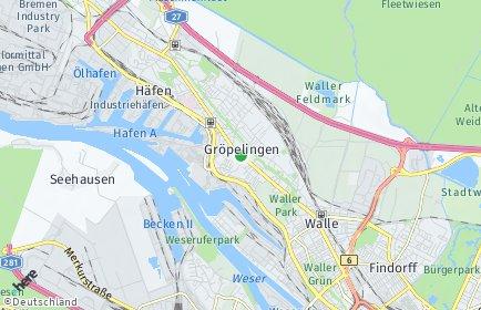 Stadtplan Bremen-Gröpelingen