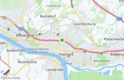 Stadtplan Bremen-Vegesack