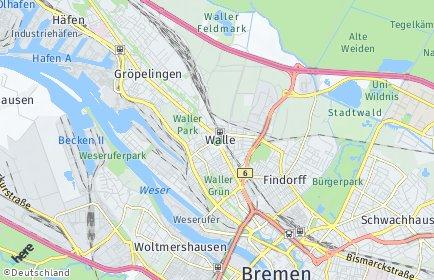 Stadtplan Bremen-Walle