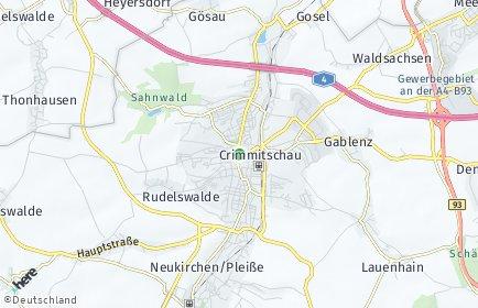 Stadtplan Crimmitschau