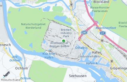 Stadtplan Bremen-Häfen
