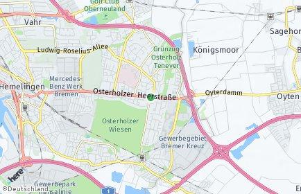 Stadtplan Bremen-Osterholz