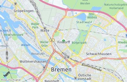 Stadtplan Bremen-Findorff