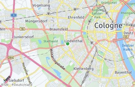 Stadtplan Köln OT Lindenthal