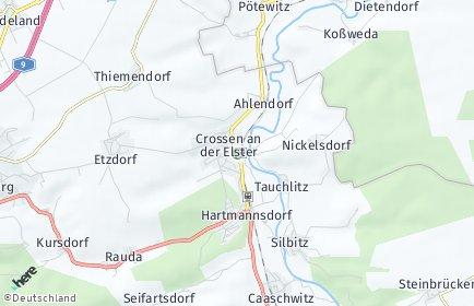 Stadtplan Crossen an der Elster