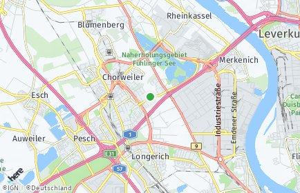 Stadtplan Köln OT Seeberg