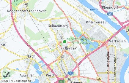 Stadtplan Köln OT Chorweiler