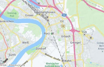 Stadtplan Köln OT Porz