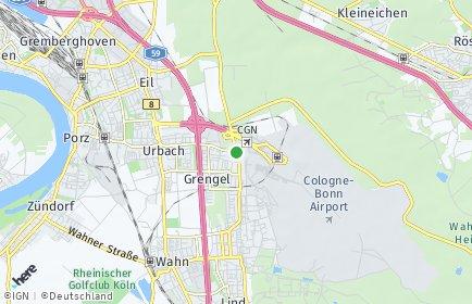 Stadtplan Köln OT Grengel