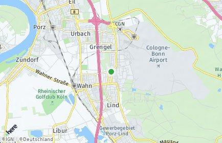 Stadtplan Köln OT Wahnheide