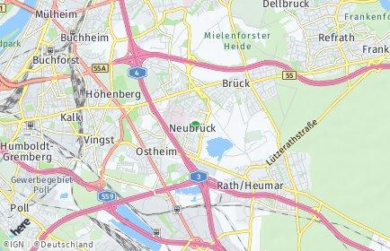 Stadtplan Köln OT Neubrück