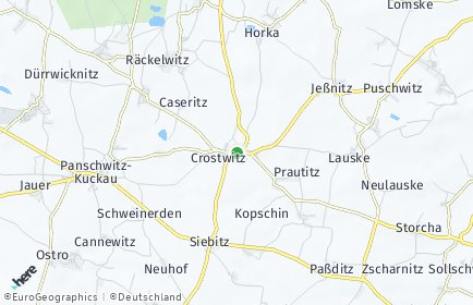 Stadtplan Crostwitz