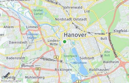 Stadtplan Hannover OT Calenberger Neustadt