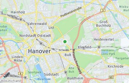 Stadtplan Hannover OT Zoo