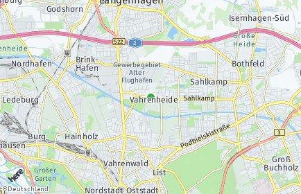 Stadtplan Hannover OT Vahrenheide