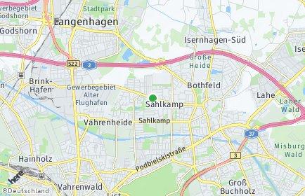 Stadtplan Hannover OT Sahlkamp