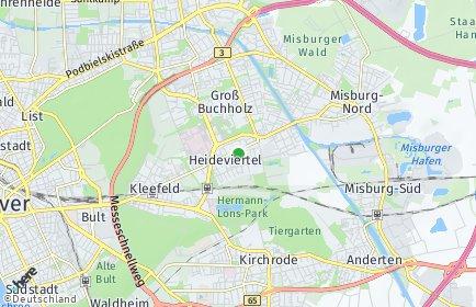 Stadtplan Hannover OT Heideviertel