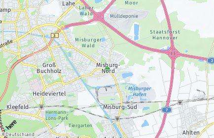 Stadtplan Hannover OT Misburg-Nord