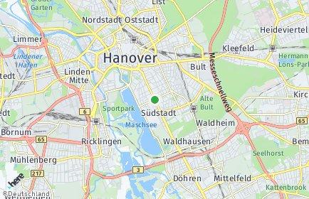 Stadtplan Hannover OT Südstadt