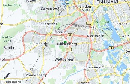 Stadtplan Hannover OT Mühlenberg