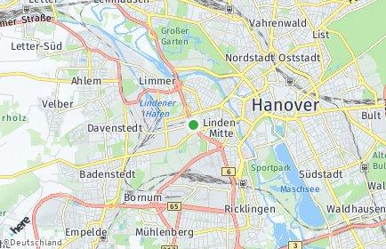 Stadtplan Hannover OT Linden-Mitte