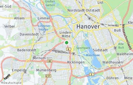 Stadtplan Hannover OT Linden-Süd