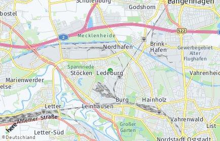Stadtplan Hannover OT Ledeburg