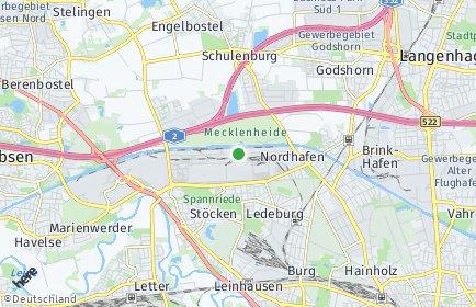 Stadtplan Hannover OT Nordhafen