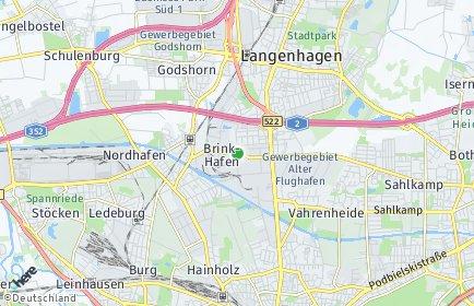 Stadtplan Hannover OT Brink-Hafen