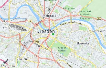 Stadtplan Dresden OT Pirnaische Vorstadt