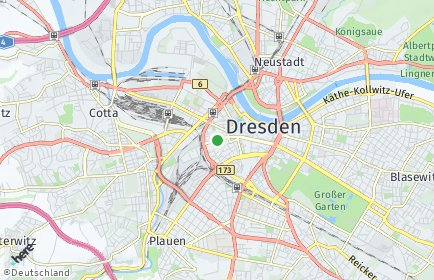 Stadtplan Dresden OT Wilsdruffer Vorstadt/Seevorstadt-West