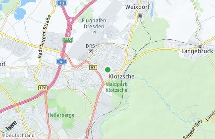 Stadtplan Dresden OT Klotzsche