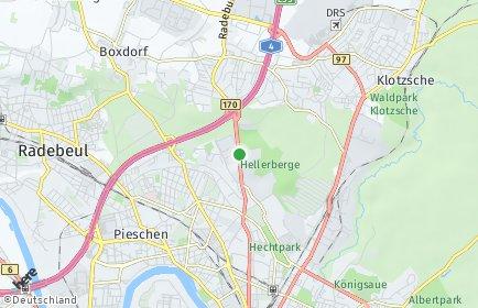 Stadtplan Dresden OT Hellerberge