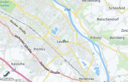 Stadtplan Dresden OT Leuben