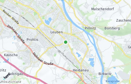 Stadtplan Dresden OT Großzschachwitz