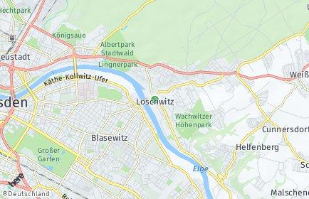 Stadtplan Dresden OT Loschwitz/Wachwitz