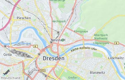 Stadtplan Dresden OT Äußere Neustadt