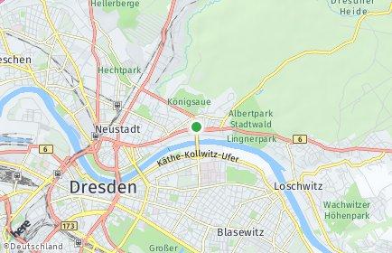 Stadtplan Dresden OT Radeberger Vorstadt
