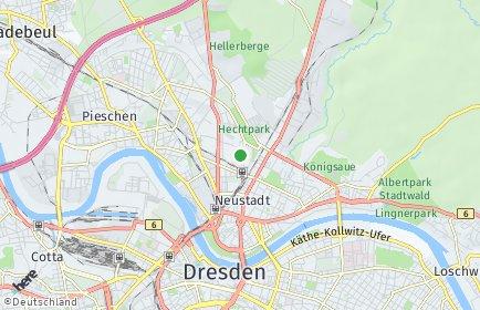 Stadtplan Dresden OT Leipziger Vorstadt