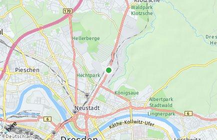 Stadtplan Dresden OT Albertstadt