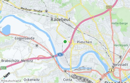 Stadtplan Dresden OT Kaditz
